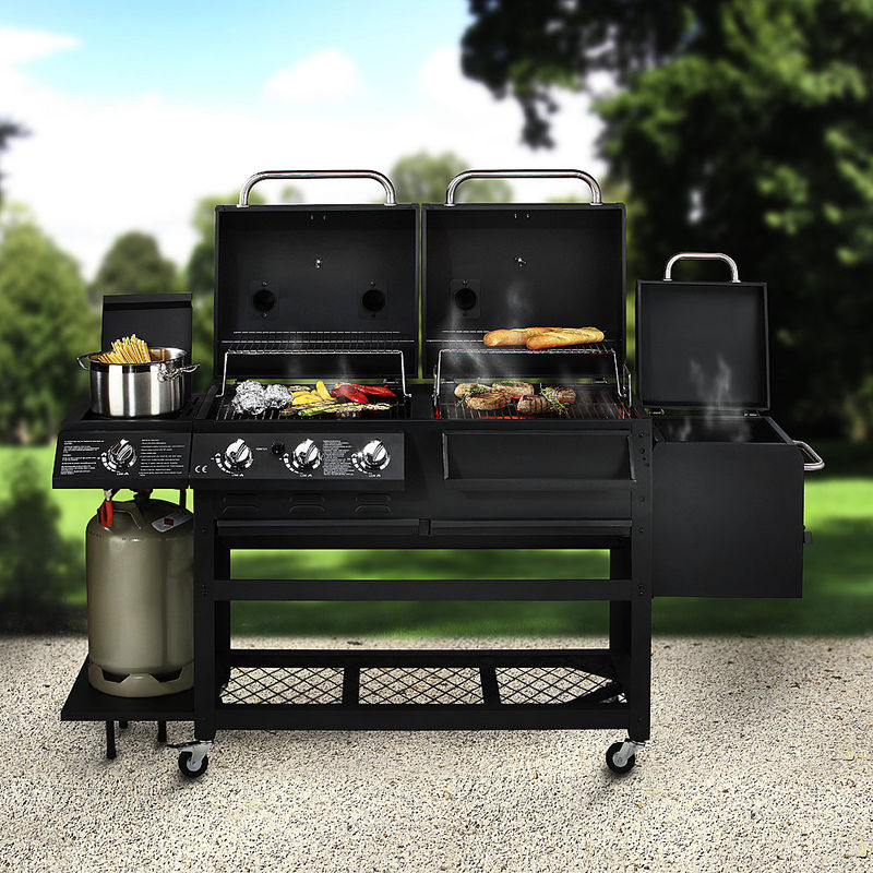 4 funktionen luxusgrill holzkohlegrill gasgrill r ucherkammer gaskochstelle hagen grote. Black Bedroom Furniture Sets. Home Design Ideas