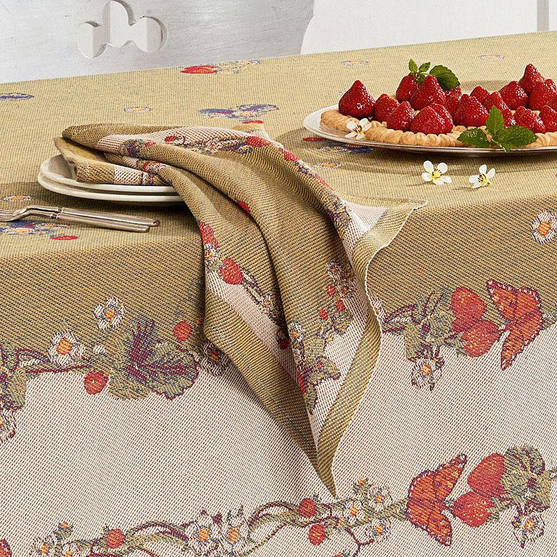 servietten schwedische erdbeertischw sche holt den fr hling ins haus hagen grote schweiz. Black Bedroom Furniture Sets. Home Design Ideas