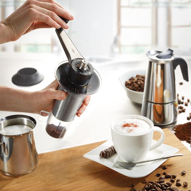hand kaffeem hle 11 feineinstellungen speziell f r espresso filterkaffee french press. Black Bedroom Furniture Sets. Home Design Ideas