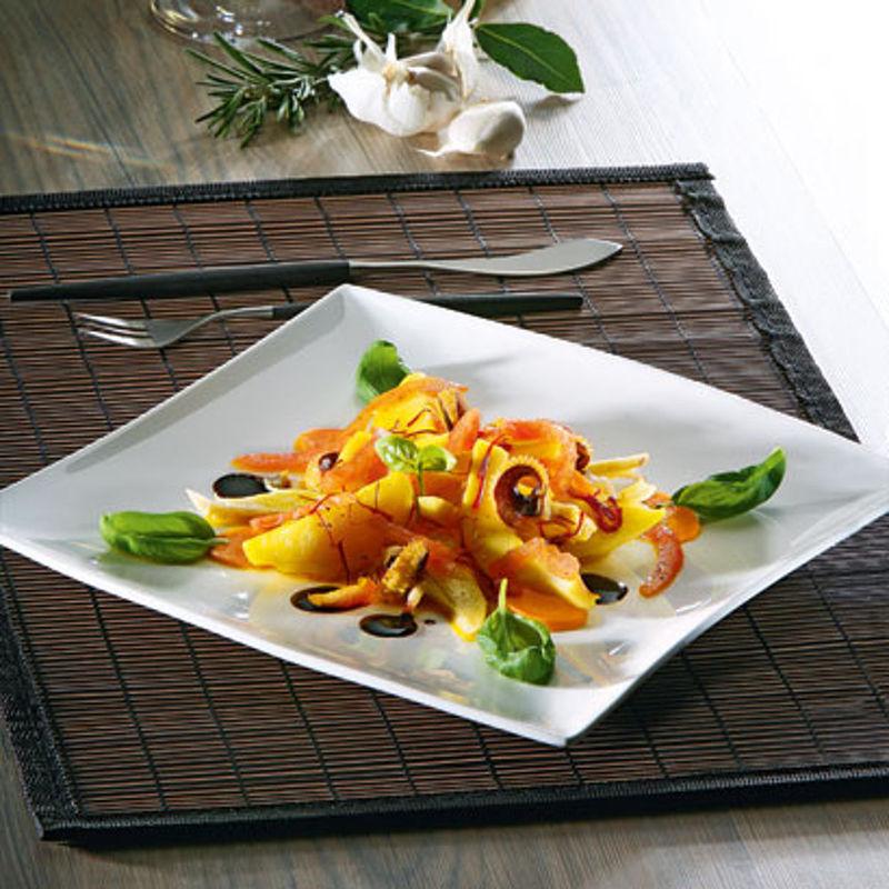 warmer sepia gem se salat mit safran vinaigrette rezept hagen grote schweiz. Black Bedroom Furniture Sets. Home Design Ideas