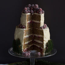 Winter Wonderland-Torte mit Cranberrys
