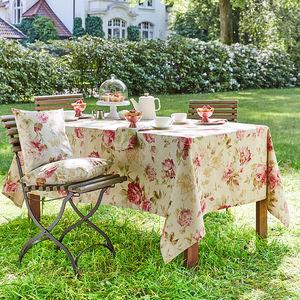 tischdecke romantische englische rosenmotiv tischw sche. Black Bedroom Furniture Sets. Home Design Ideas